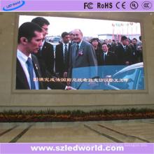 Große LED Videowand P8 Außen An der Wand montiert