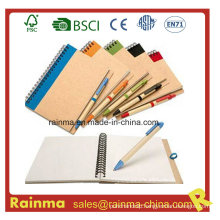 School and Office Stationery with Notebook