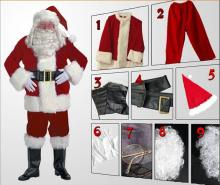 High Quality Santa Claus Mascot Costume Christmas Party Supply Adult Size
