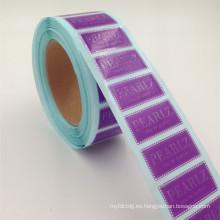 etiqueta cosmética de alta calidad de la impresión del laser para el sello de la botella