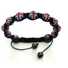 2013 London Olympic Gifts! UK Flag Shamballa Crystal Ball Bracelets BR27