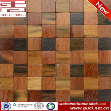 hot sale product rustic design mixed Solid wood mosaic tile