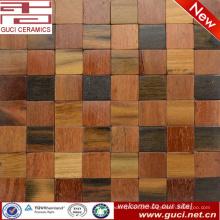 projeto rústico quente do produto da venda misturou a telha de mosaico da madeira contínua