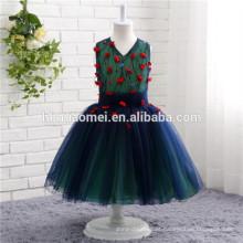 Europa e nos Estados Unidos sonho crianças saia fornecimento de fábrica pequeno vestido do vintage vestido da menina de flor para meninas partido desgaste
