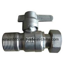 Válvula de bola bloqueable recta para el medidor de agua
