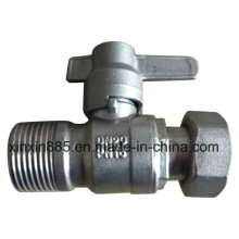 Straight Lockable Ball Valve for Water Meter
