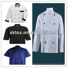 casaco de chef de manga curta