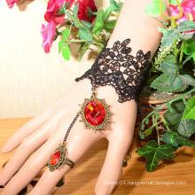 Facotry charms metal wholesale FC-04 Red dimamond titanium bracelet