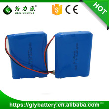 11.1v / 12v 2000mah 18650 paquete de batería de iones de litio recargable