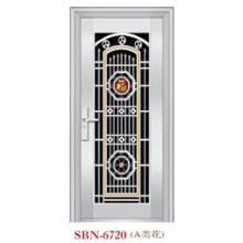 Puerta de acero inoxidable para exteriores (SBN-6720)