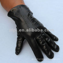 Homens Moda Preto Genuine Lambskin Motorcycle Driving Leather Glove