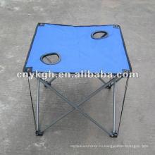 складной стол для кемпинга с подстаканниками