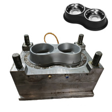 custom high quality large no slip pet food water bowl mould plastic injection dog cat bowl mold