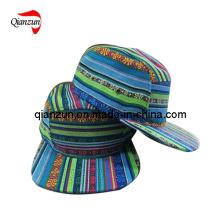 Fashion 5 Panel Flat Brim Hat (ZJ029)