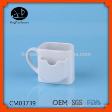 Керамическая кружка с держателем для чайных пакетиков, керамическая кружка для печенья, фарфоровая кружка для чая
