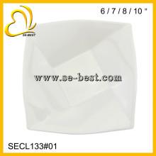 "6""/7""/8""/10 INCH SQUARE PLATE; PURE WHITE PLATE"