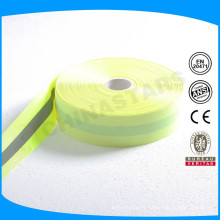 good quality 5cm reflective flourescent polyester ribbon for safety garments