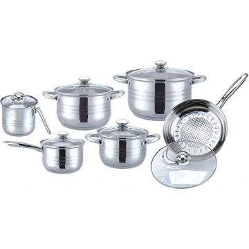 12pcs casserole  set with 18K gold plated