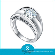 Latest Lucky 925 Silver Jewelry Ring with Customized Logo (R-0603)