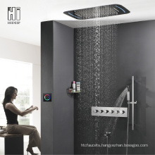 HIDEEP Five Function Thermostatic LED Shower Faucet Set