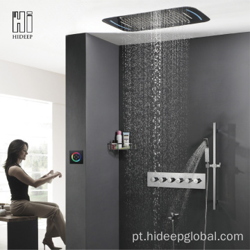 HIDEEP Cinco Funções Termostática LED Shower Set Torneira