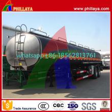 Réservoir de chauffage de bitume d'asphalte de semi-remorque de 35 -60cbm de capacité de trois axes