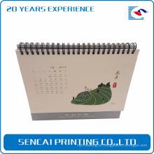 O melhor preço personalizou o calendário de mesa do retângulo do triângulo da fonte da fábrica