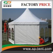 Carnival waterproof hexagon pagoda wedding tents 5x10m for outdoor event