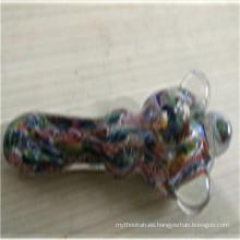 Tubo de cristal de la mano del color único del precio de fábrica para fumar (ES-HP-169)