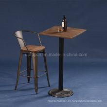 Estilo de estilo industrial metal mesa de bar Bistro (SP-BT702)