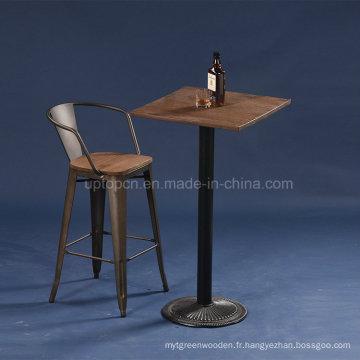 Table à barres industriels en métal de style vintage (SP-BT702)