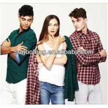 camisa tela cvc 55% algodón 45% tela de poliéster teñida tela