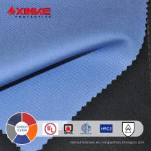 Tejido ignífugo de alto rendimiento 88/12 algodón / nylon para ropa de trabajo