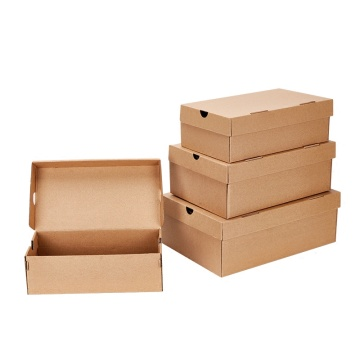 Corrugated Shoe Box Plain Kraft Paper Storage Box