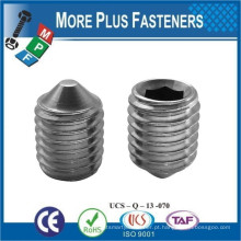Feito em TaiwanStainless Steel Hexagon Socket Set Screw Cone Point ISO 4027 DIN 914