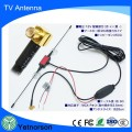 Hot selling car glass mount DAB DVB TV active high gain antenna with F/IEC SMB Connector