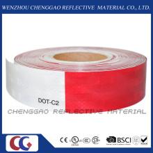 Rote und weiße DOT-C2 klar Reflexfolie für Verkehrszeichen (C5700-B(D))