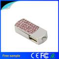 Fornecedor China Promocionais Presente Crystal Metal USB Pen Drive 4GB 8GB