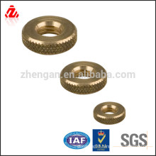 high quality Brass knurled nut
