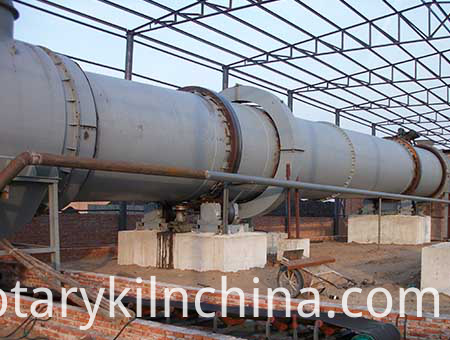 Garbage incineration rotary kiln