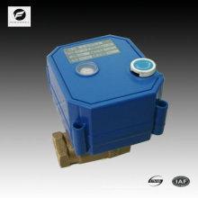 mini válvula electrónica de 2 vías con indicador de posición y función de anulación manual para el sistema de agua de autocontrol