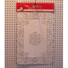 rectangular food grade paper doily 10x14.5inch