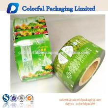 Empacotamento de alimento laminado impresso personalizado do filme de rolo para o chá do macha