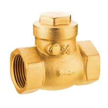 Brass Swing Check valve, J5004 brass check valve pn16, low price with good quality