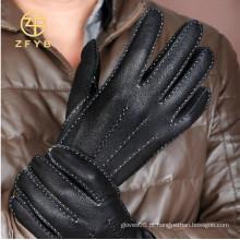 Hot venda clássica moda homem veado textura luvas de couro com todo o tipo