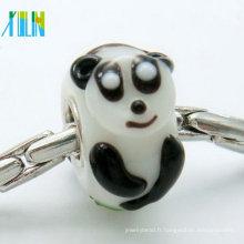 Petites perles de verre murano lapin pour accessoires de bracelet