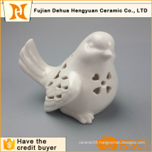 White Ceramic Hollow Bird Ceramic Crafts (garden decoration)