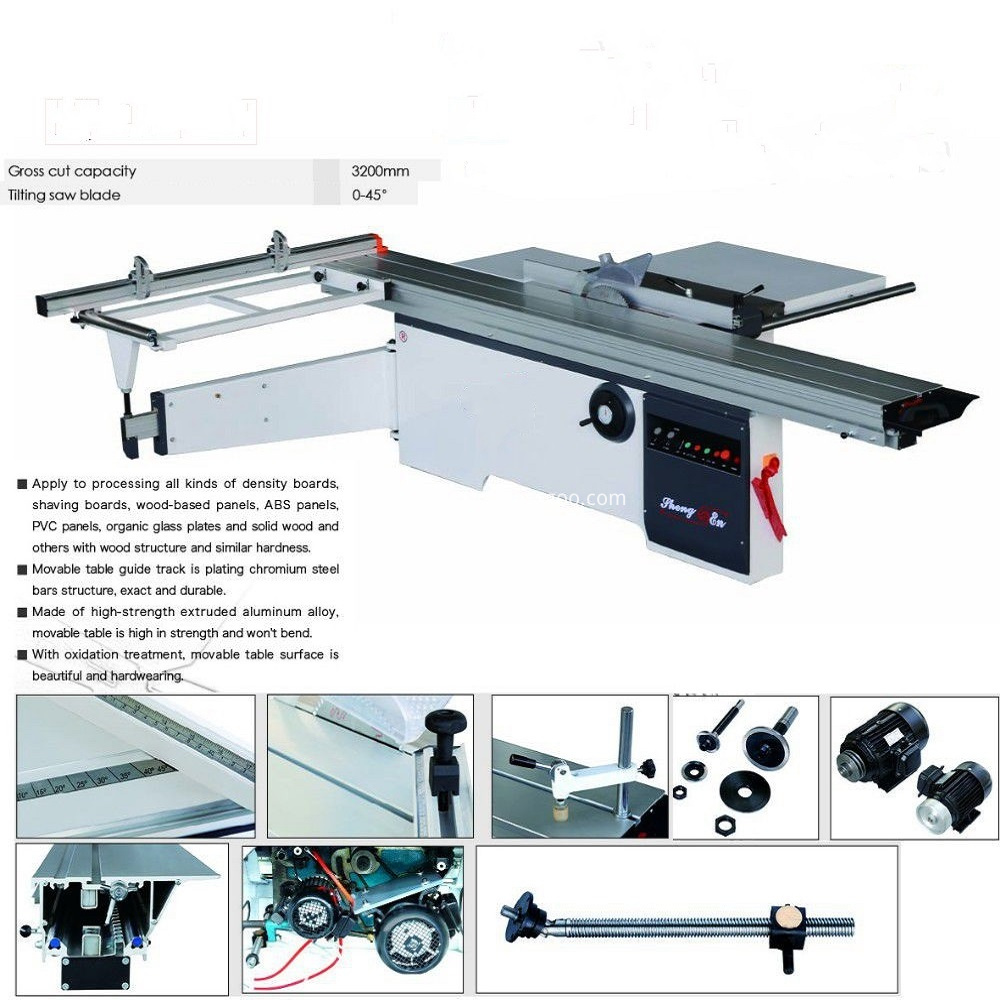 woodworking machine sliding table saw for board cutting with scoring saw-XB