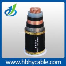 XLPE isolou o cabo de energia elétrica blindado de único núcleo 10 / 20kv