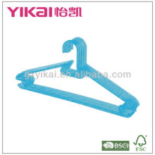 Hot Selling Crystal PS Plastic Hanger with Racks for Tie and Nothes for Straps